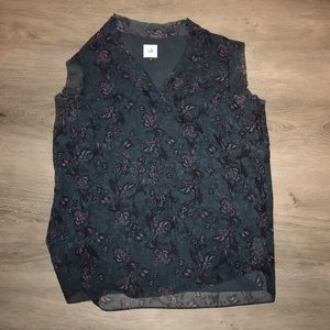 CAbi sleeveless patterned top